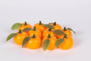 Group of fresh orange fruits on white background