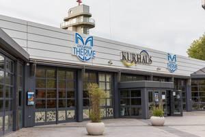 Grugapark Therme und Kurhaus in Essen: die Sicht auf den Eingang