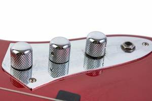 Guitar Potentiometers on the red guitar
