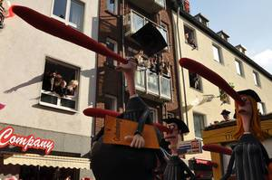 Guttenberg am Rosenmontagszug 2012