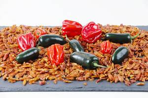 Habanero and Jalapeno on hot chili peppers