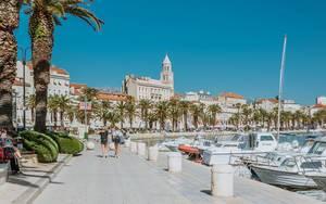 Hafen in Split, Kroatien