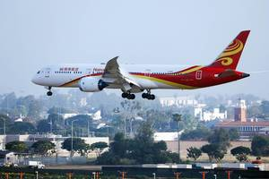 Hainan Airlines B787 Dreamliner approaching Los Angeles Airport LAX