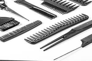 Hair combs and scissors. The concept of the barbershop (Flip 2020)