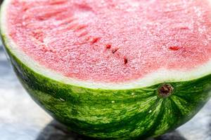 Half of a ripe watermelon close-up (Flip 2019) (Flip 2019)