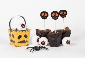 Halloween Dekorationen - Muffins mit Totenköpfen