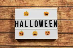 Halloween text in lightbox