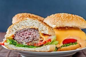 Hamburgers ready-to-eat