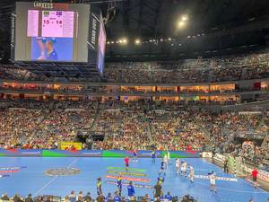 Handballspiel der Mannschaften Brasilien gegen Island an Handball Weltmeisterschaft 2019