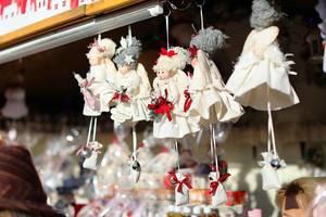 Handmade dolls at market