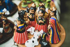 Handmade Guatemalan style nativity set