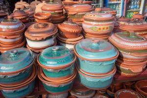 Handmade pottery in the market place (Flip 2019)