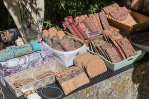 Handmade souvenirs made from genuine cork