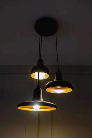 Hanging ceiling lamps on a local cake house (Flip 2019)
