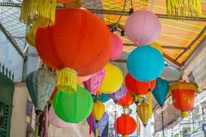 Haning Chinese Lanterns at a Vietnamese House in Saigon