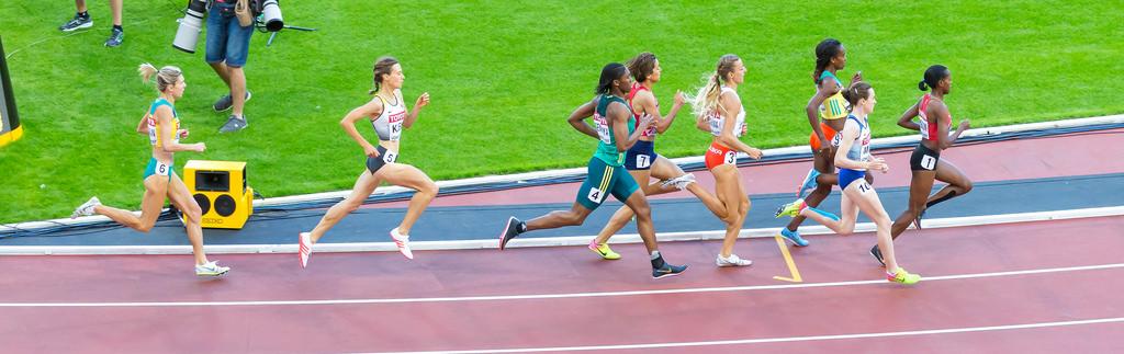 Hanna Klein beim 1500m Halbfinale bei der Leichtathletik-WM 2017