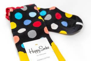 Happy Socks - colourful dotted socks made from combed cotton