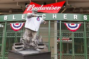 Harry Caray statue at Wrigley Field