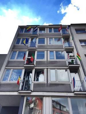Häuserwand zur WM in Köln