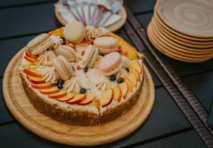 Hausgemachte Torte mit Frischkäse