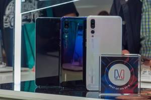 Hauwei P20 Pro Handys in unterschiedlichen Farben. Best of IFA 2018