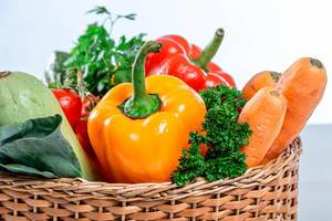 Healthy food concept - fresh ripe vegetables