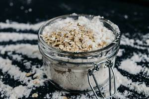 Healthy Jar with Flour and Muesli