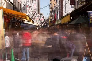 Hectic Tsukiji Market in Tokyo