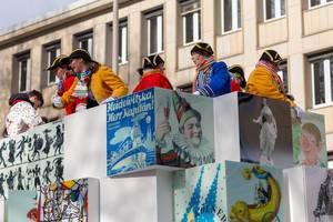 Heidewitzka, Herr Kapitän! Wagen beim Rosenmontagszug - Kölner Karneval 2018