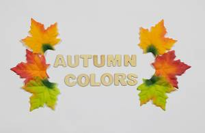 "Herbstblätter mit Text ""Autumn Colors"""