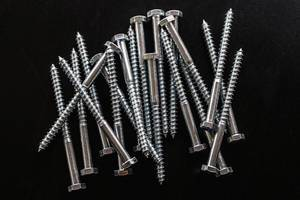 High Angle View on a Pile of Screws
