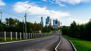 High rises of Moscow city / Hohe Aufstiege der Moskauer Stadt