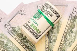 Hintergrundbild mit amerikanischen Dollarscheinen
