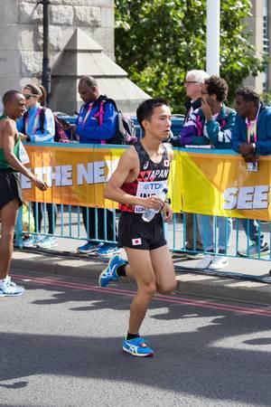 Hiroto Inoue und weitere Läufer (Marathon Finale) bei den  IAAF Leichtathletik-Weltmeisterschaften 2017 in London