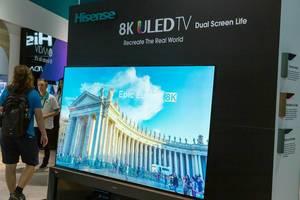 Hisense 8K ULED TV mit Dual Screen und natürlichen Farben für bessere Bildqualität