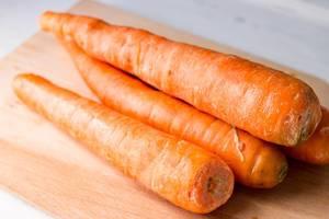 Homegrown carrots, garden vegetables
