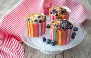 Homemade blueberries muffins