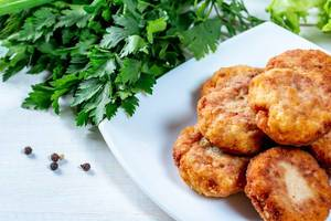 Homemade fried fish cutlets