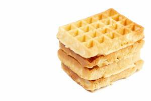 Homemade Waffles isolated on white background