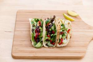 Hot halloumi tacos by Hellofresh