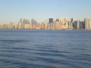 Hudson River and skyline in north east America