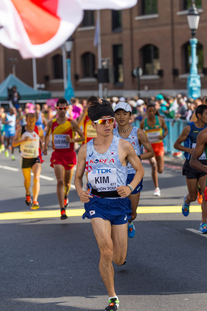 Hyosu KIM (Japan) during Marathon 2017 in London