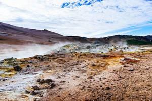 Iceland geothermal area landscape / Island geothermischen Bereich Landschaft