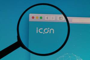ICON logo under magnifying glass