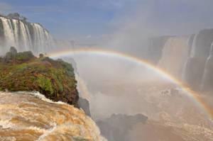 Iguazu-Wasserfälle in Brasilien inkl. Regenbogen