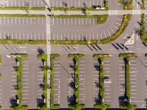 Ikea Parkplatz von oben