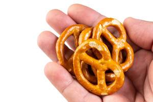 Industry Snacks Pretzels in the hand (Flip 2019)