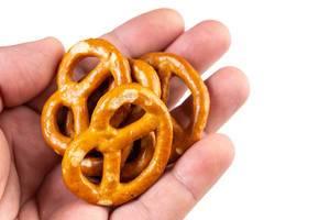 Industry Snacks Pretzels in the hand