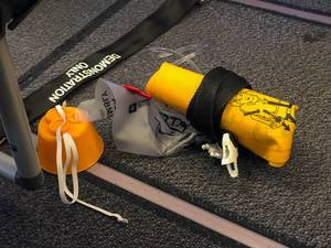 Inflatable lifejacket for demonstration purposes