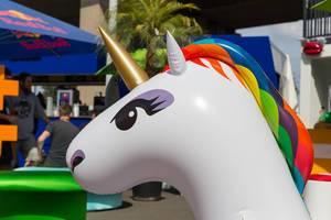 Inflatable unicorn - Gamescom 2017, Cologne